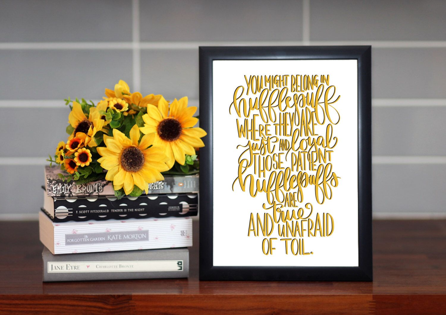 Harry Potter Quote Print - Hufflepuff Quote Print Motto - Harry ...