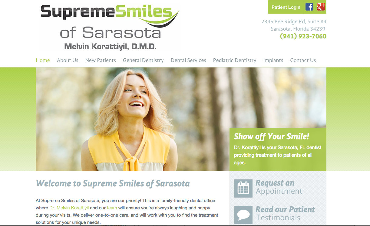 #sesamewebdesign #sds #ravenna #dental #responsive #green #gray #sans