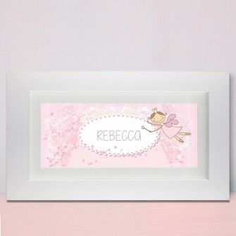Personalised fairy letter name frame new baby gifts pinterest personalised fairy letter name frame name framenew baby giftsnew negle Images
