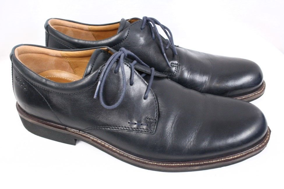 Ecco Findlay Black Leather Lace Up Derby Oxford Dress Casual Shoe