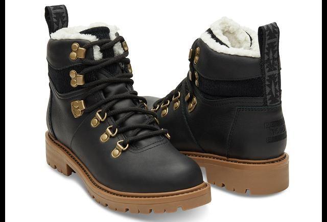 2fb36428d21 TOMS Black Waterproof Leather Women s Summit Boots - pg.1 ...