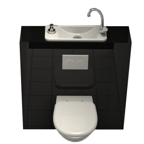 wc suspendu avec lave mains wici next par wici concept salle de bain pinterest compact. Black Bedroom Furniture Sets. Home Design Ideas