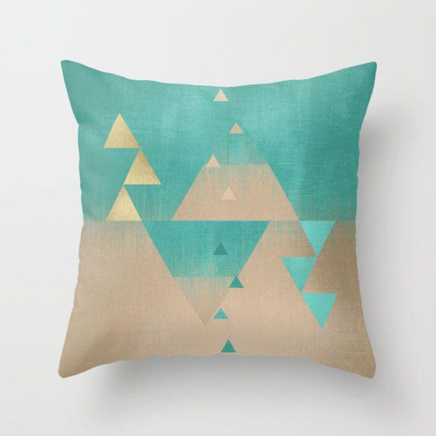 Pyramids Throw Pillow by Elisabeth Fredriksson