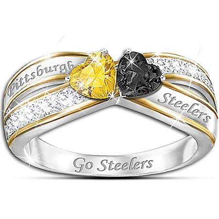 Heart Of Pittsburgh Ring Pittsburgh steelers Steeler nation and