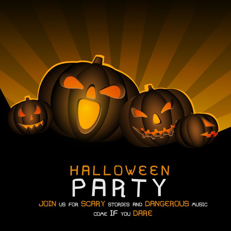 halloween party colorful background vector - Halloween Music For Parties