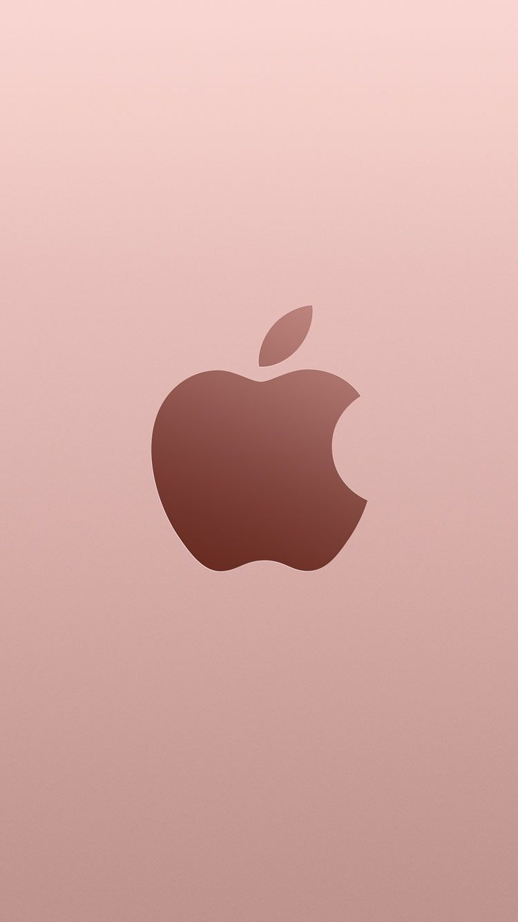 Apple Logo On Noisy Green Background Wallpapers Hd Wallpapers Rose Gold Iphone Se Wallpapers