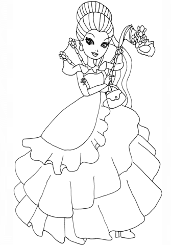 Ever After High Thronecoming Raven Queen Coloring Page From Ever