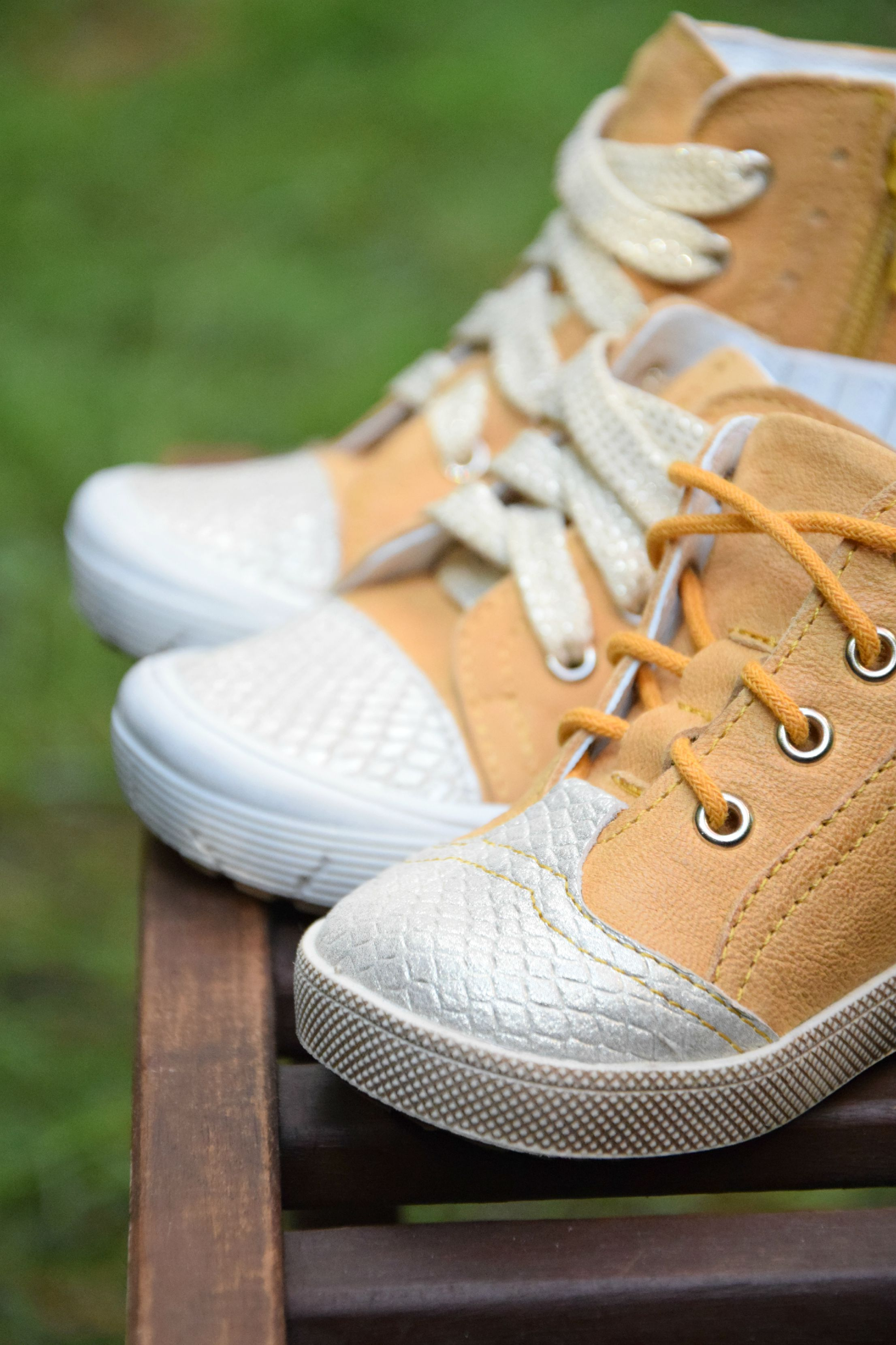 ec882bc4c Handmade children shoes by Emel - made in Europe - Yellow shoes - sneakers  - leather shoes