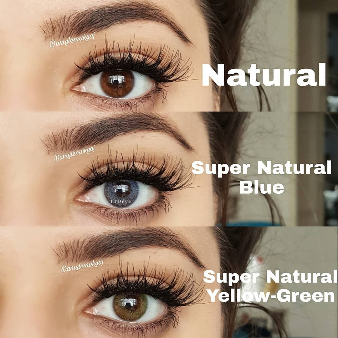 Super Natural Yellow-Green Colored Contact Lenses In 2020