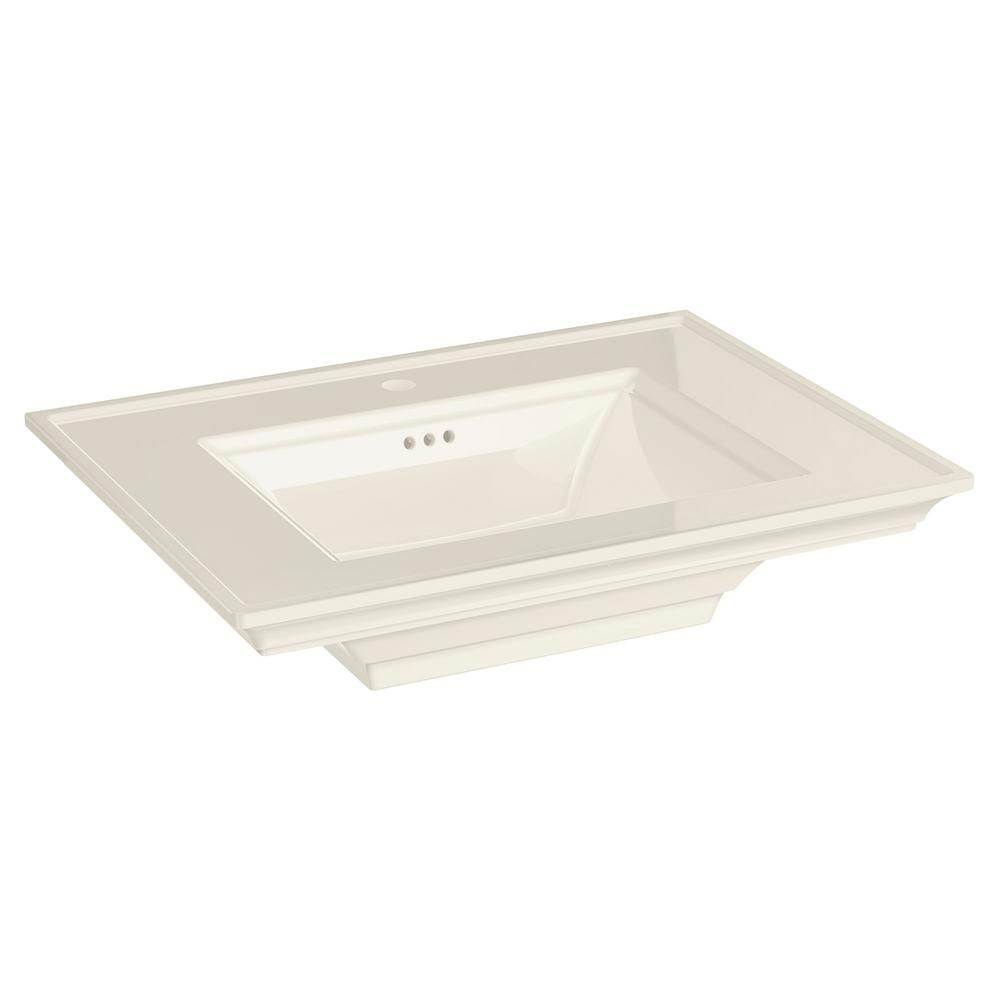 American Standard Town Square S 22 In Pedestal Center Hole Sink