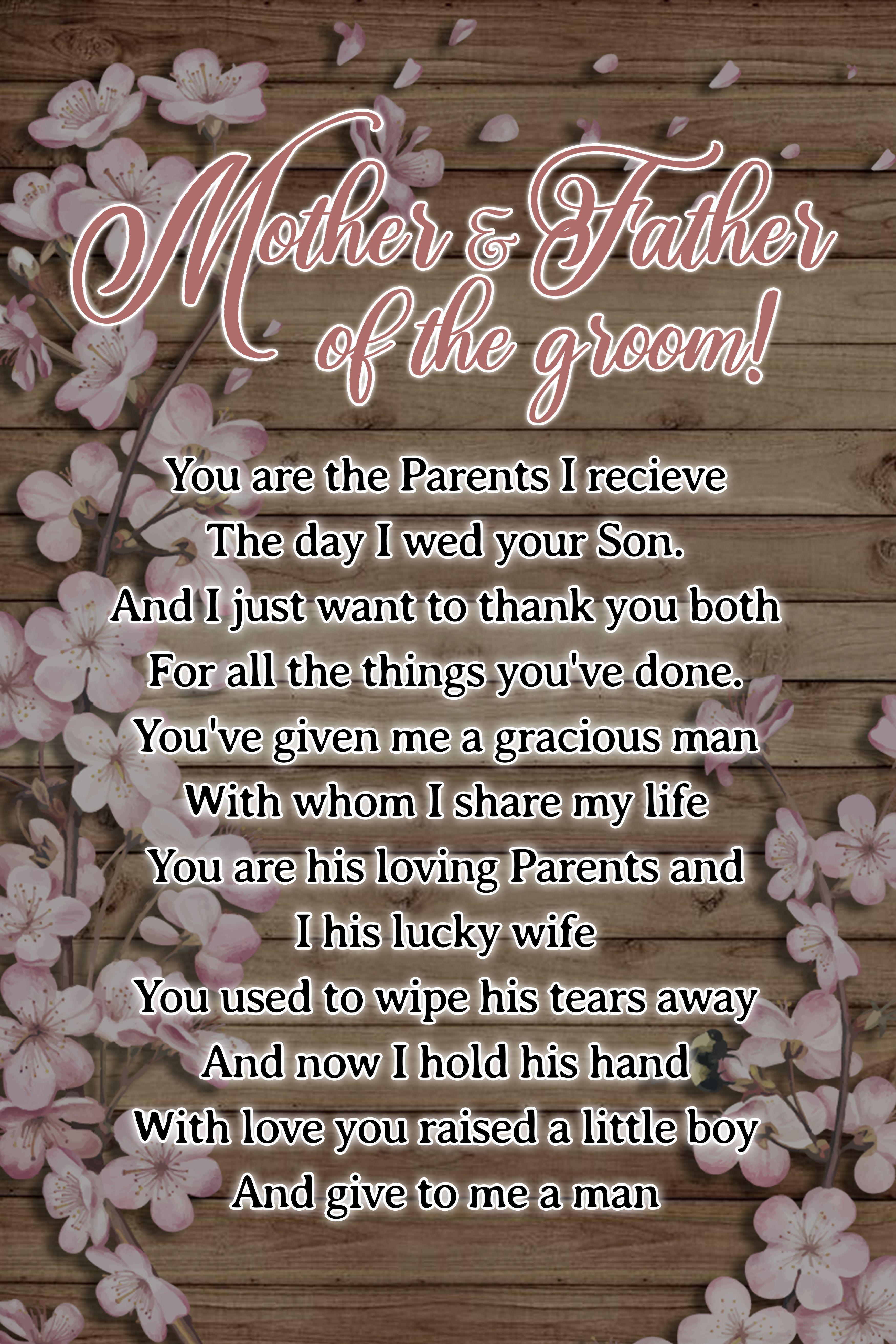 PERSONALISED MUM DAD PARENTS THANK YOU CARD WEDDING DAY PARTNER MULTI HEARTS NAN