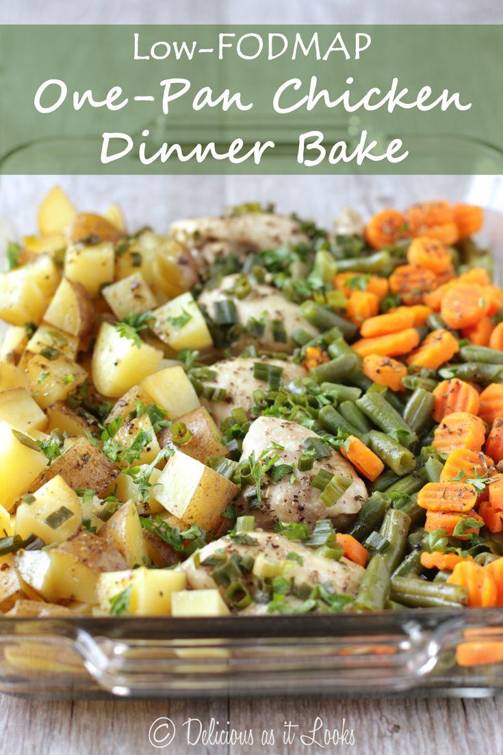 One-Pan Chicken Dinner Bake | Recipe | FODMAP Friendly | Pinterest | Recipes, Fodmap recipes and ...