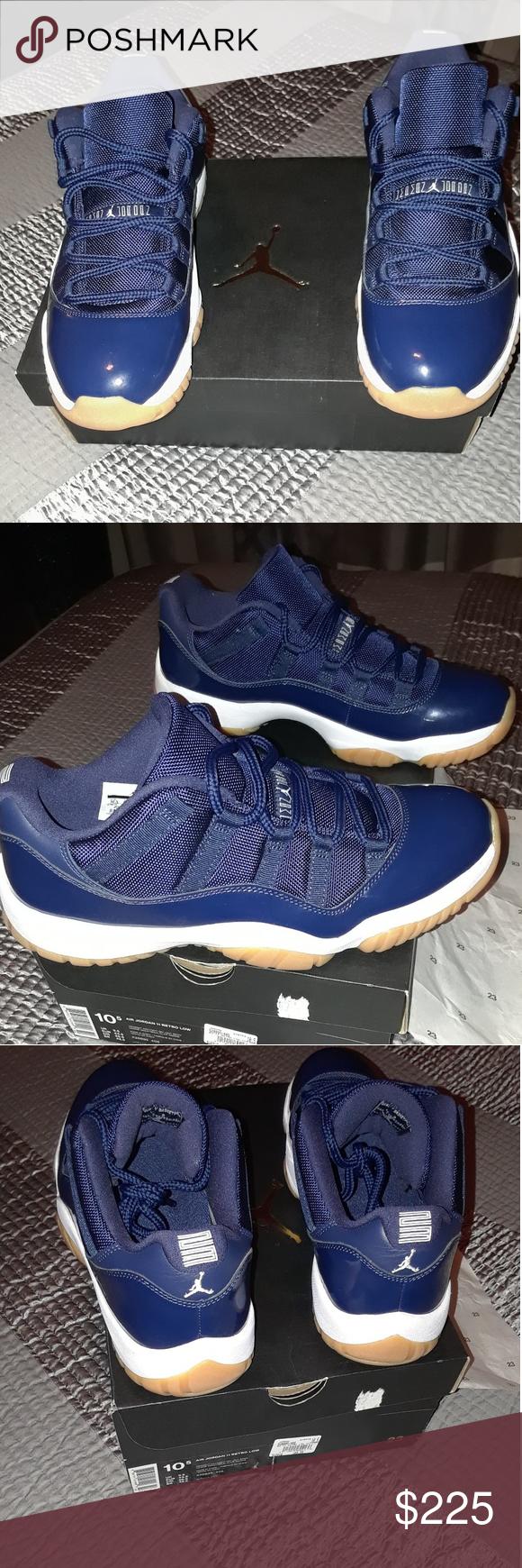 uk availability 0e4c4 44b11 Jordans 11S Deadstock Jordan 11s Brand new size 10.5 mens navy blue  gummy  bottoms selling for what I paid for them Jordan Shoes