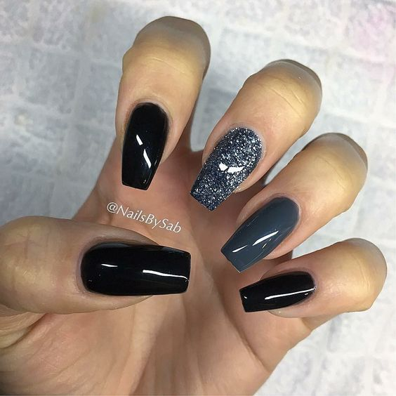 The Newest And Creative Black Nails Designs Are So Perfect For