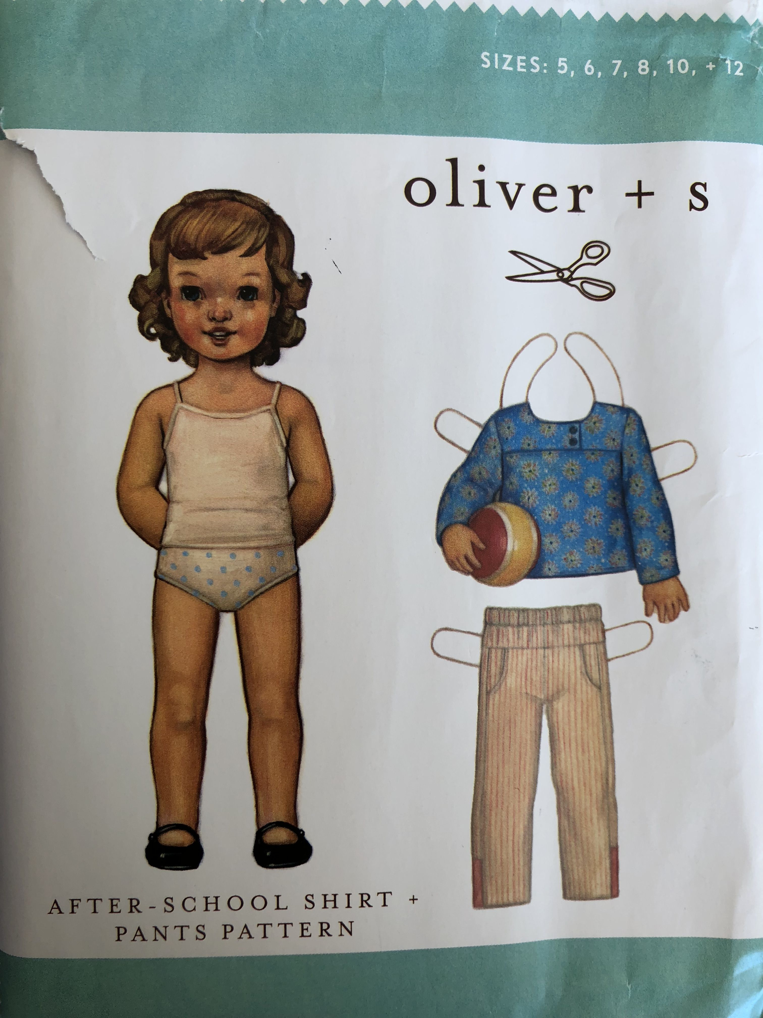 6 12 NEW After School Shirt /& Pants Pattern 7 10 8 Oliver Sizes: 5