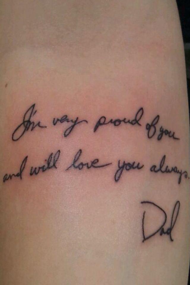 His handwriting, my memorial piece.