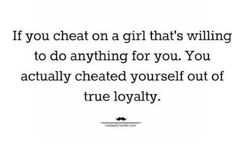 Loyalty! Keep it