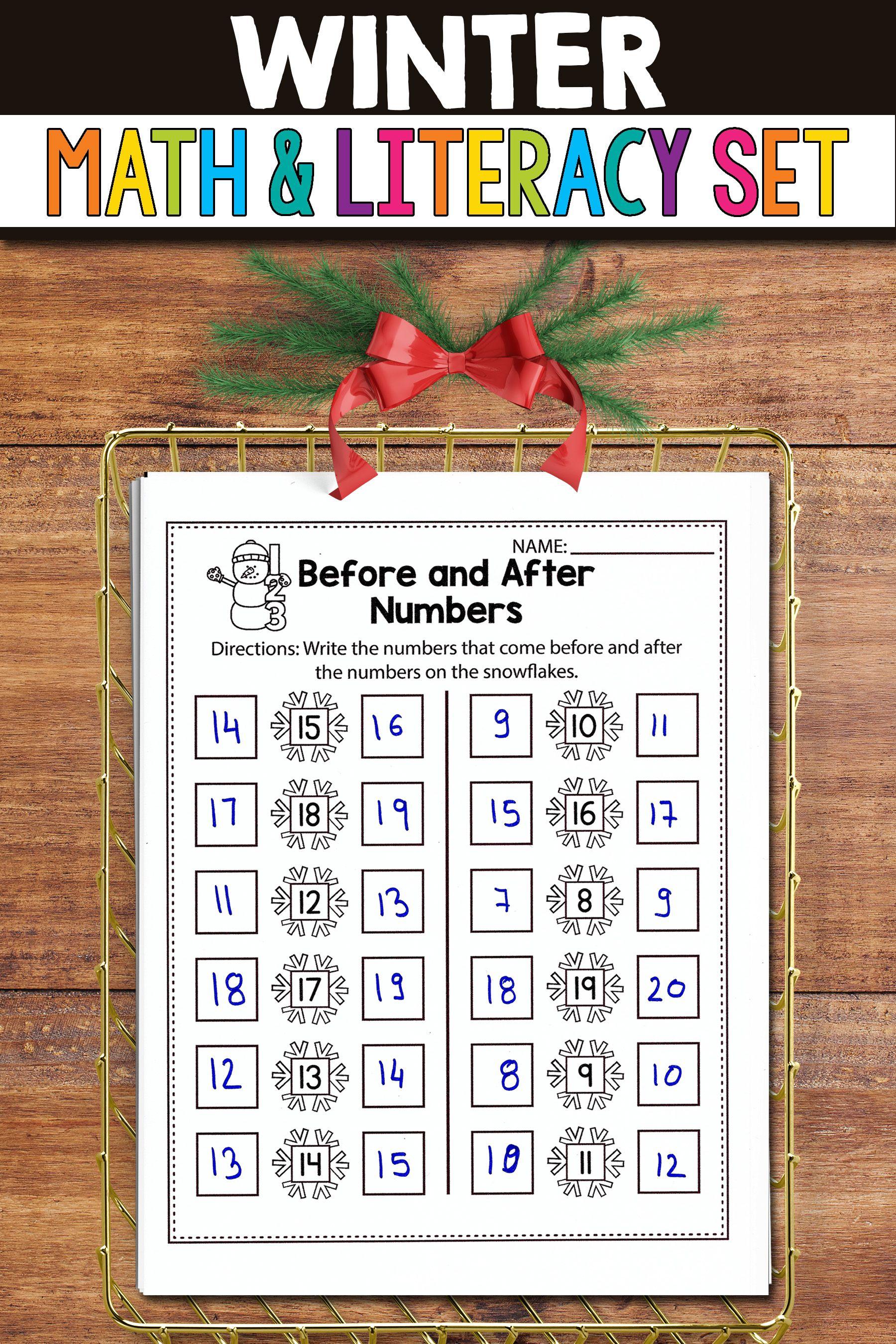 Winter Math And Literacy Activities For Kindergarten Math