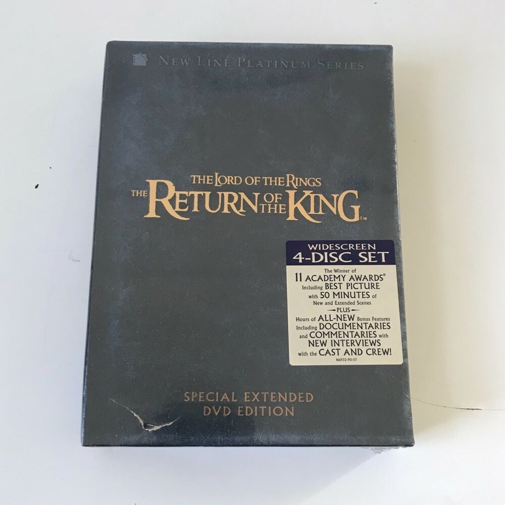New Lord Of The Rings Return Of The King Extended Edition 4 Disc Dvd Set Sealed Lord Of The Rings Lordoftherings 29 95 End D Lord Lord Of The Rings Dvd