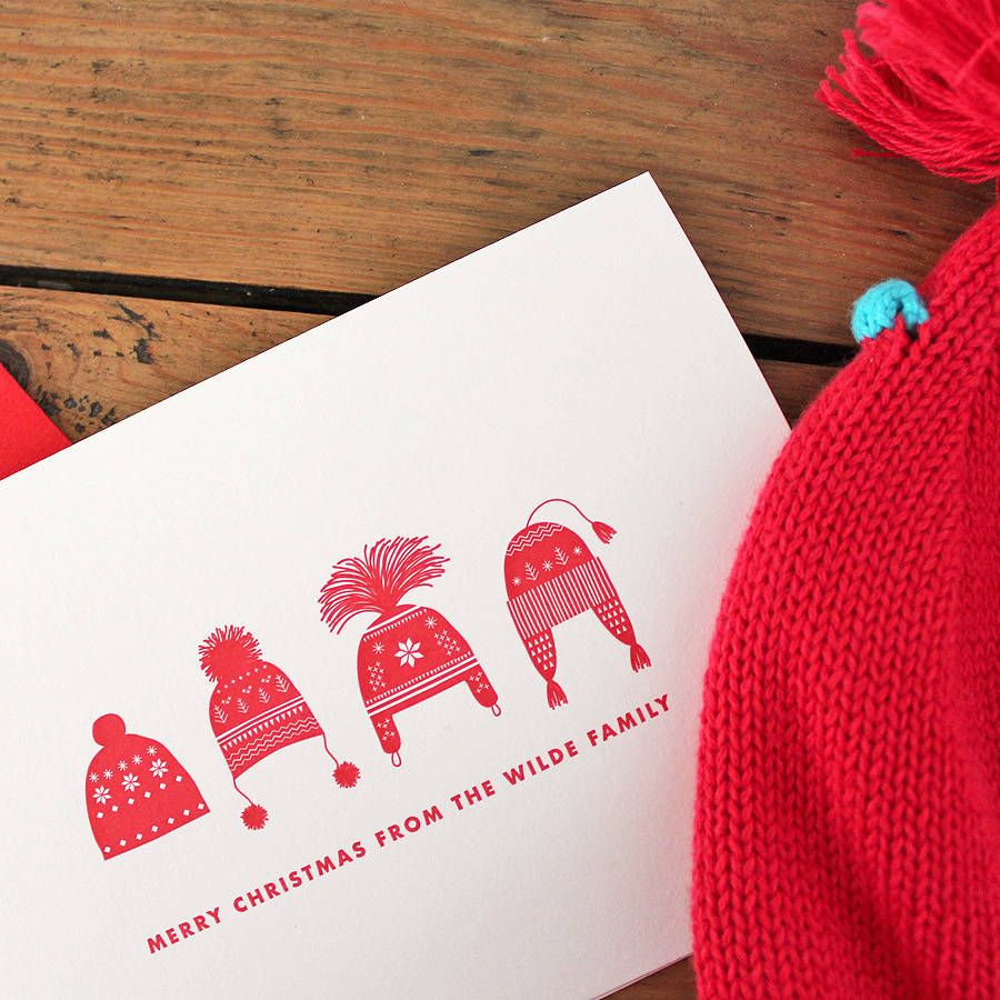 Image result for knit hat christmas card | DIY Christmas Cards ...