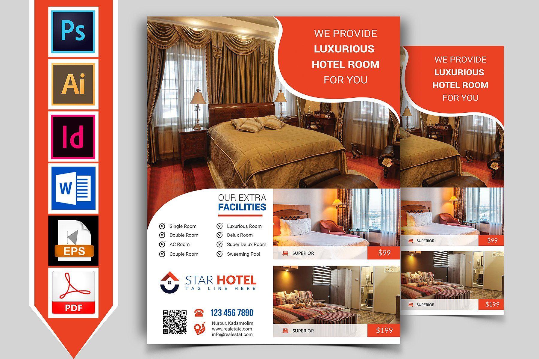 10 Hotel Flyers Bundle Flyer Template Flyer Hotel Brochure