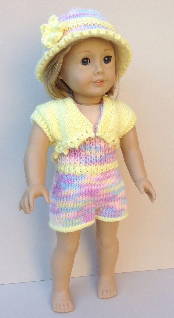 49 American Girl Doll Playsuit Duo PDF Knitting von jacknitss #americandolls