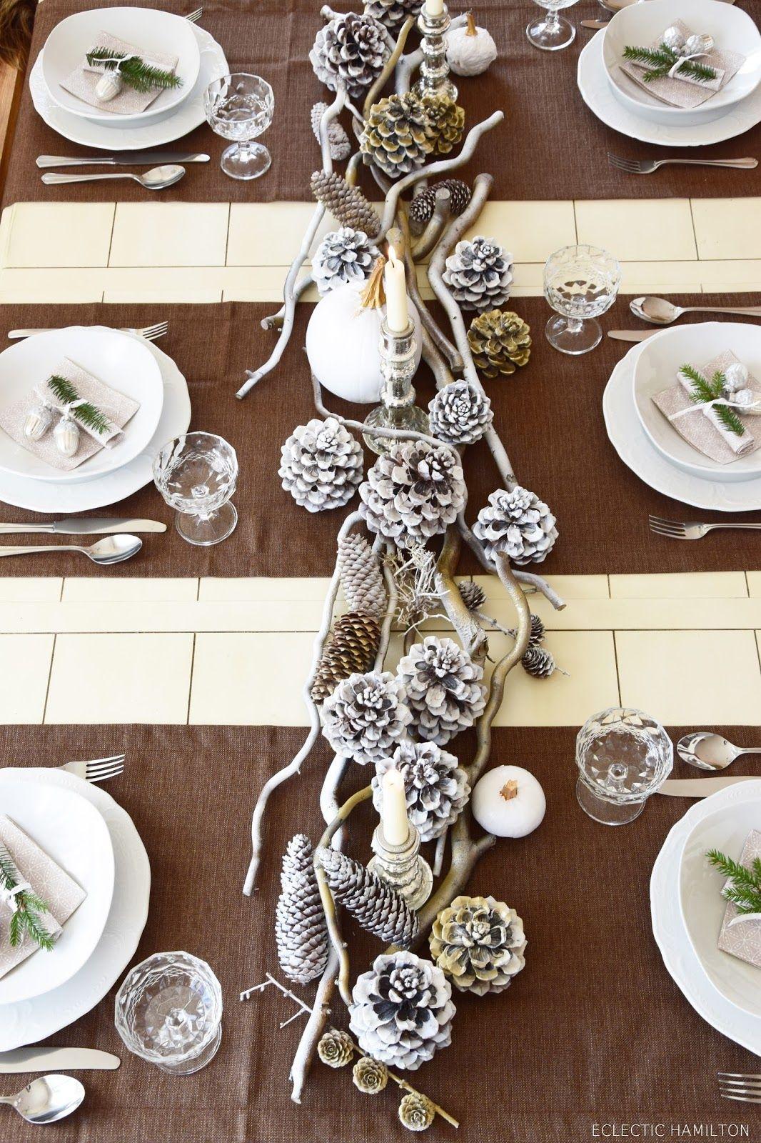 Winterlich Festliche Tischdeko Mit Naturmaterialien Christmas