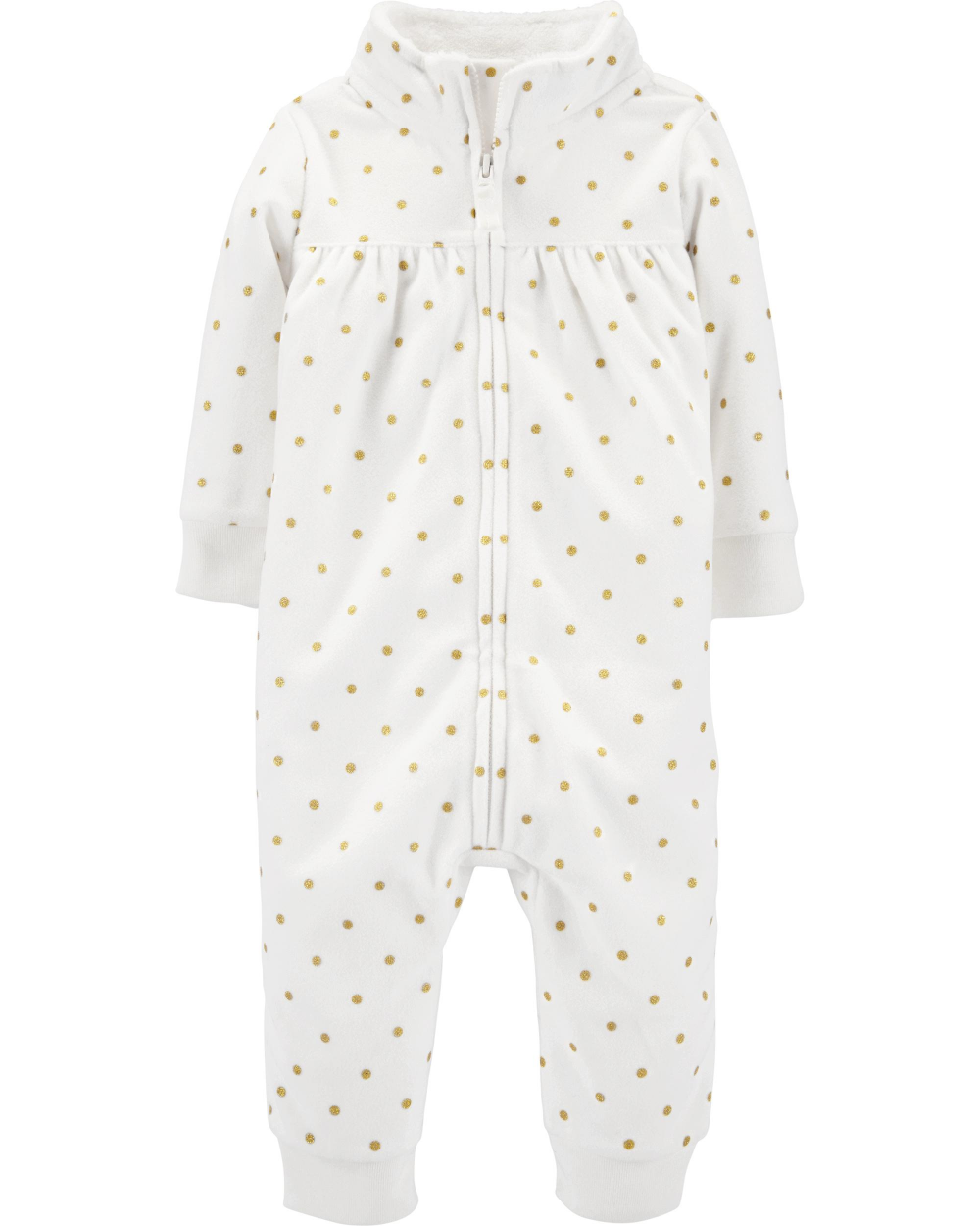 Carter/'s NWT 9M 24M Infant Girl Bow Fleece Jumpsuit Coverall