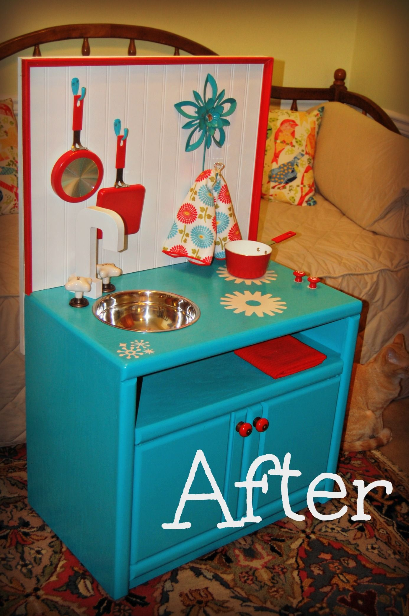 Tv stand redo into a kid\'s play kitchen... | Hammer time | Pinterest ...