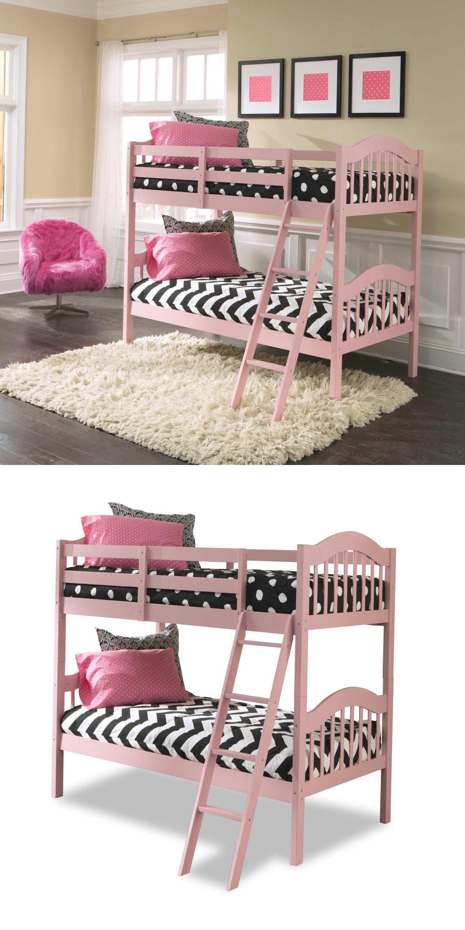 Bedroom Furniture 66742 Pink Bunk Bed Beds For Girls Kids Bedroom