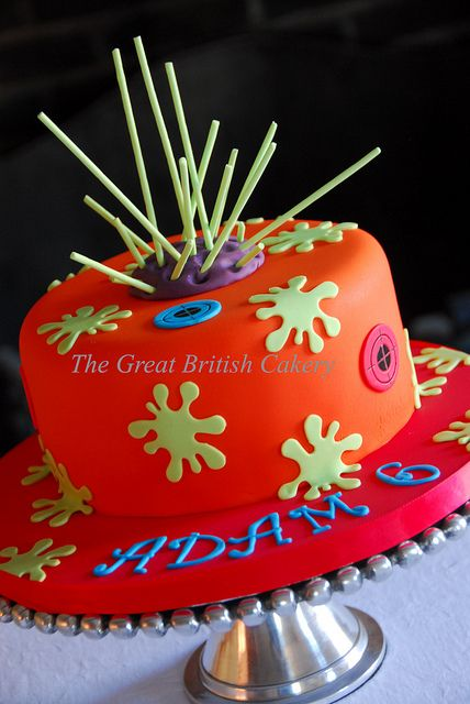 Laser tag themed cake Cake Laser tag party and Birthdays