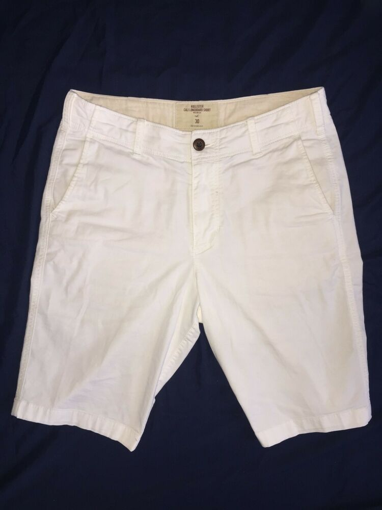 e203e76582 Men's Hollister Epic Flex Cali Longboard Shorts White (20.5