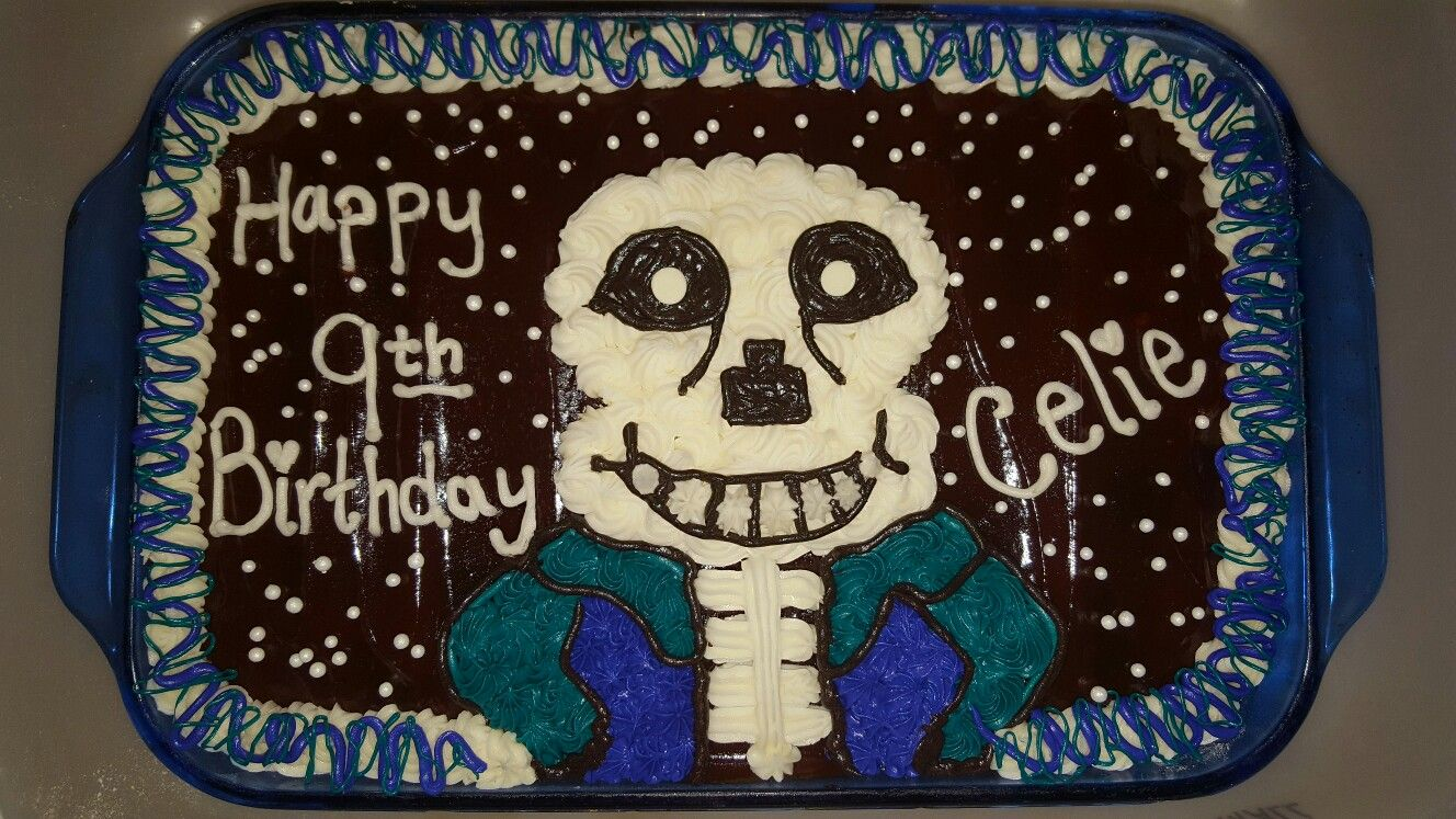Quot Sans Quot Birthday Cake Undertale Theme Cake Ideas