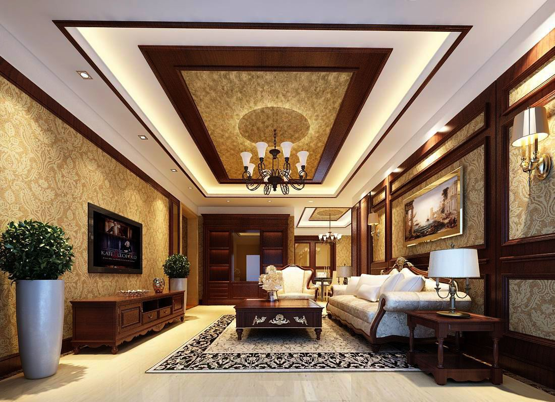 Avant Garde Luxury Family Living Room 83 3d Model House Ceiling Design Bedroom False Ceiling Design False Ceiling Design