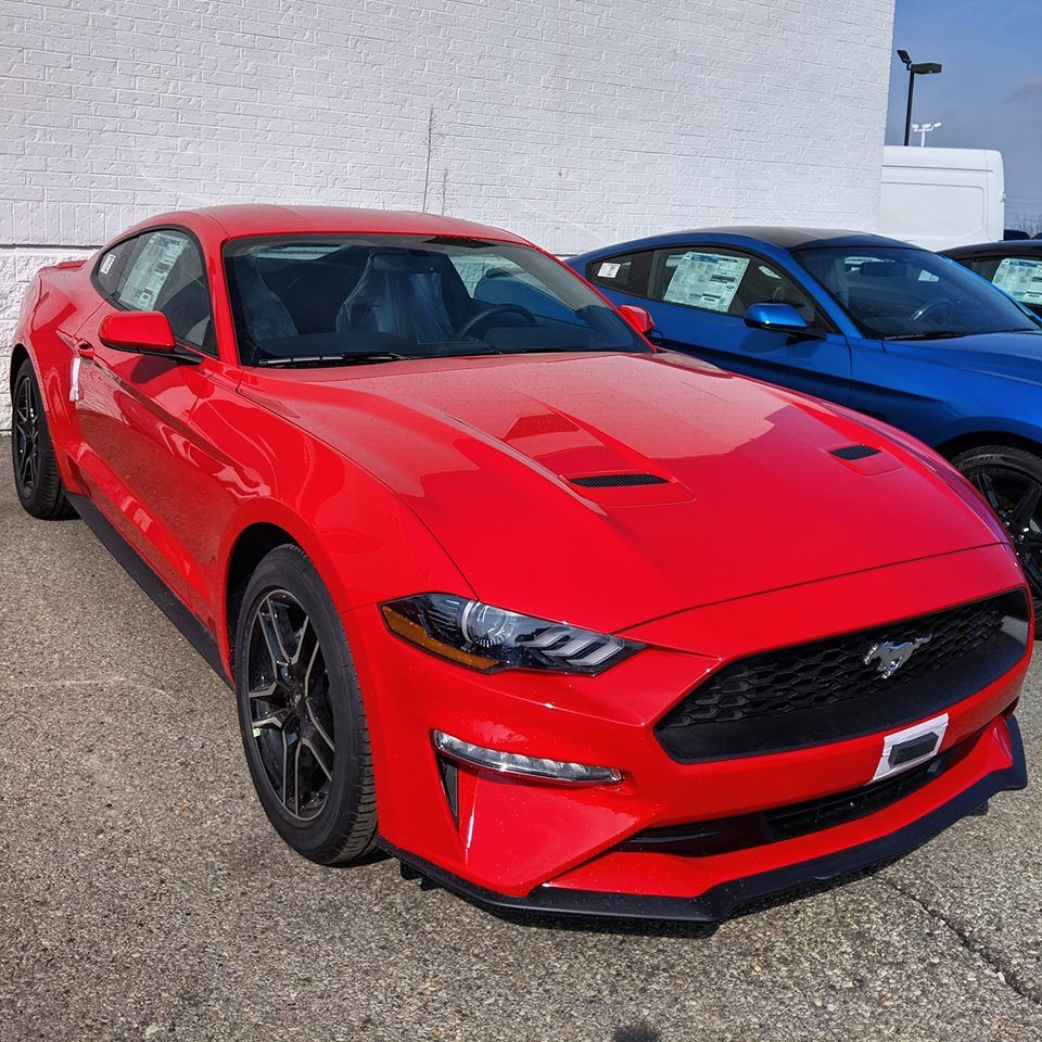 Stunning Looks Of The 2019 Mustang In Its Best Avatar Red Visit Meadowvale Ford S Link In Profile Have A Look At One Of Red Mustang Mustang Ford Mustang