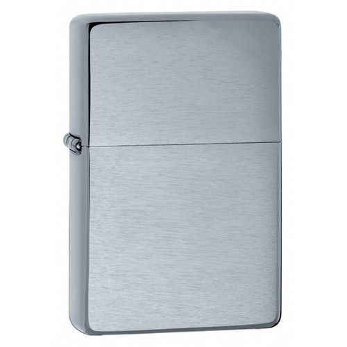 Zippo Vintage Brushed Chrome Lighter Without Slashes Vintage Brush Zippo Lighter Chrome