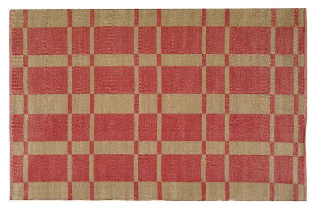4'x6' Thom Filicia Rug, Red