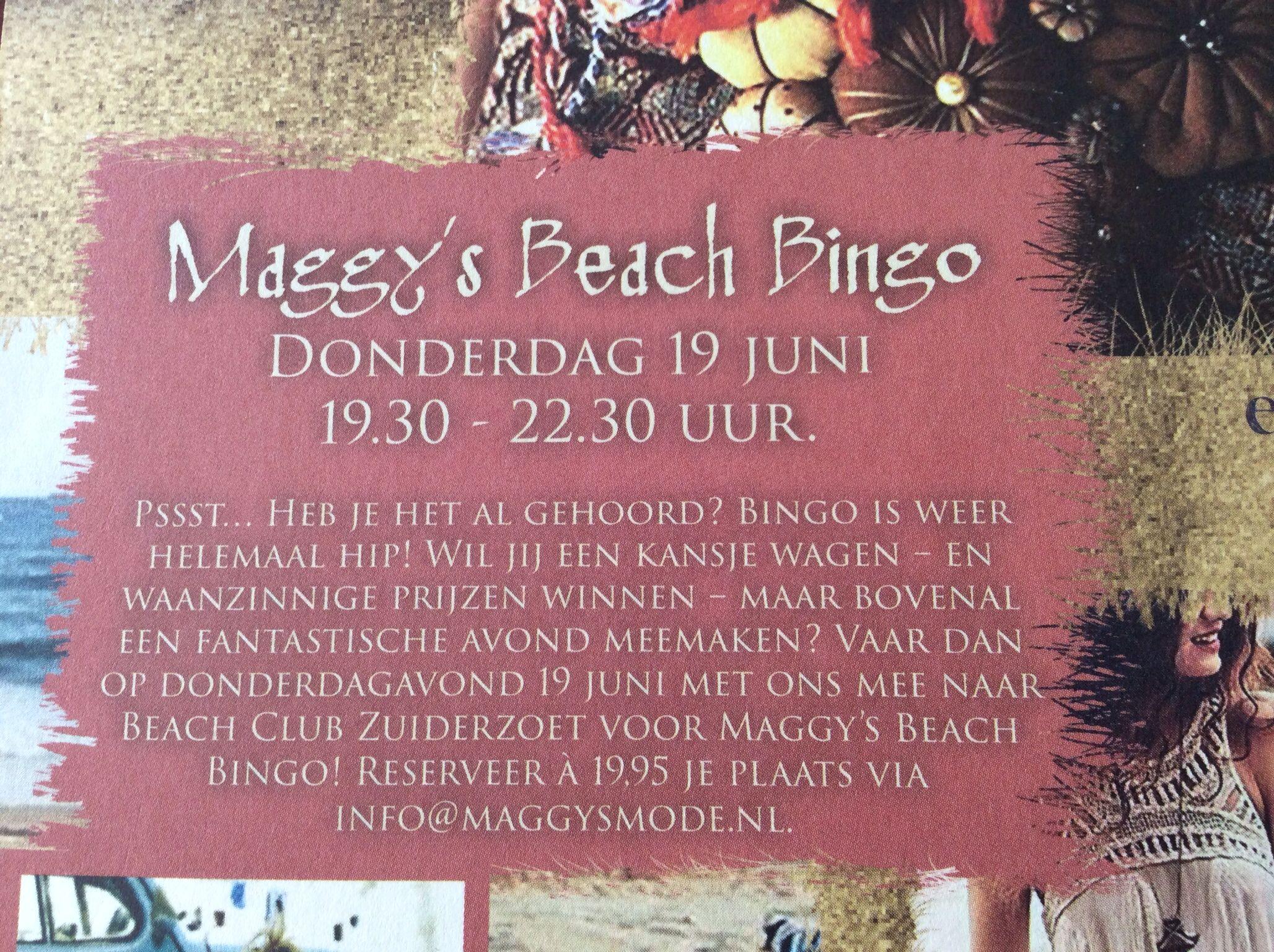 Beach Bingo 26 juni