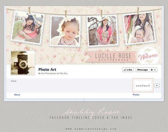 Vintage Roses Facebook Timeline Design - PHOTOSHOP template