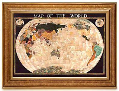 Gemstone World Map.Gemstone World Map Mother Of Pearl Ocean Free Shipping Gemstone
