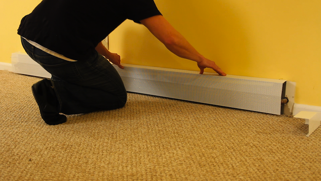 Spruce Up Old Baseboard Heaters With Stylish Diy Replacement Covers Baseboard Heater Covers Heater Cover Baseboards