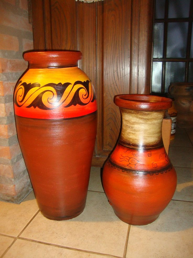 Resultado de imagem para jarrones pintados a mano decoraci n con masetas pinterest - Decoracion de jarrones ...