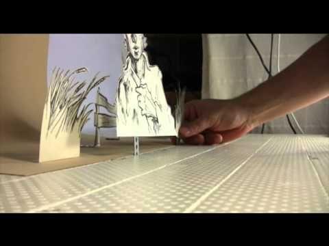 Hier Und Weg Making Of Stop Motion Trickfilm Aus Papier Stop Motion Stop Motion Movies Stop Motion Idea