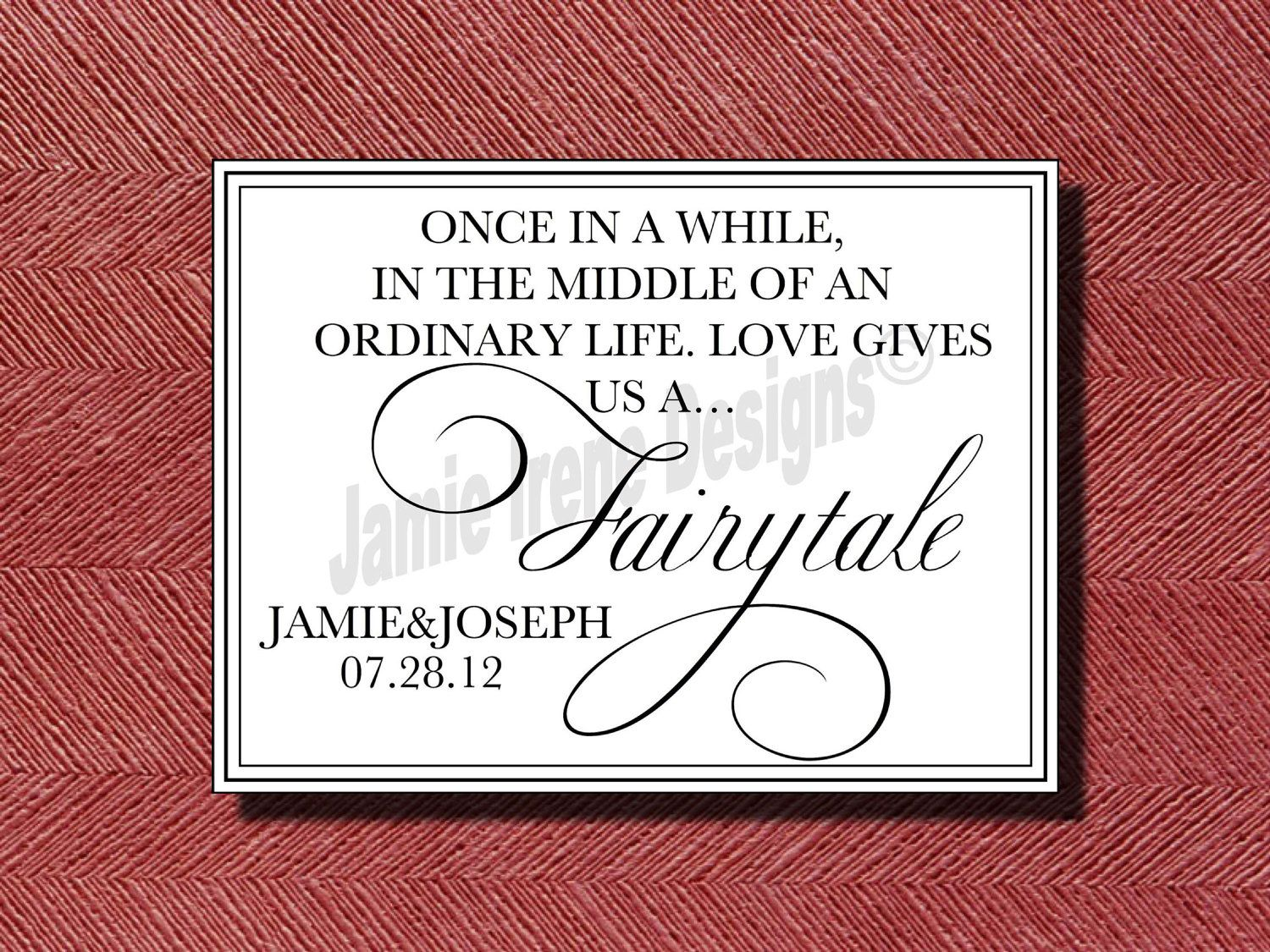 Wedding Fairy-tale Quote Sign | Projects to Try | Pinterest ...