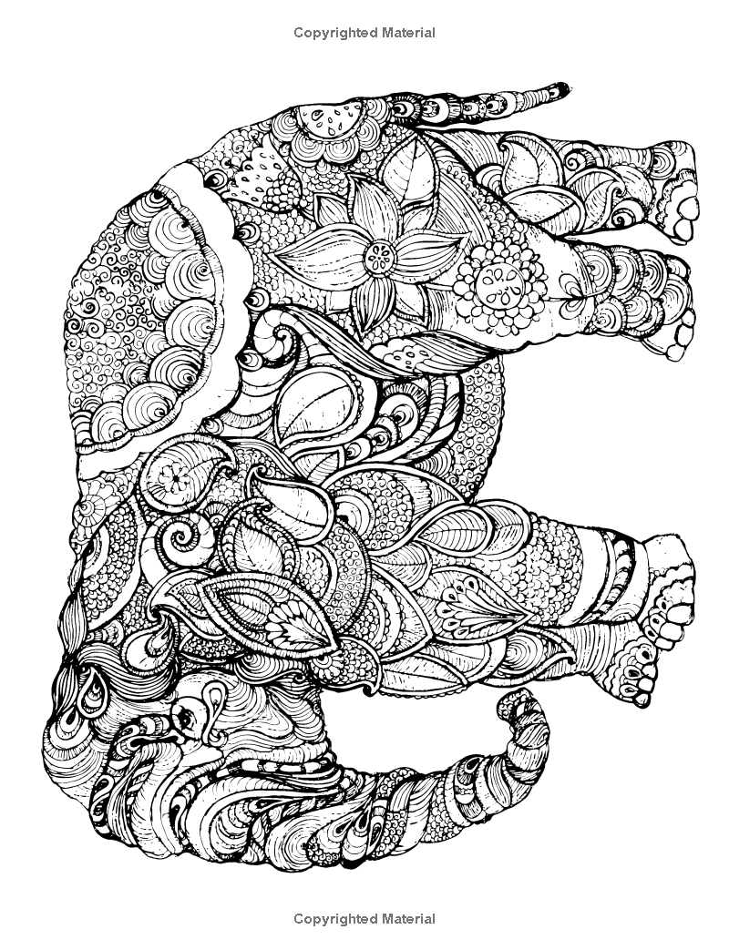 Robot Check Relaxing Coloring Book Coloring Books Elephant Coloring Page