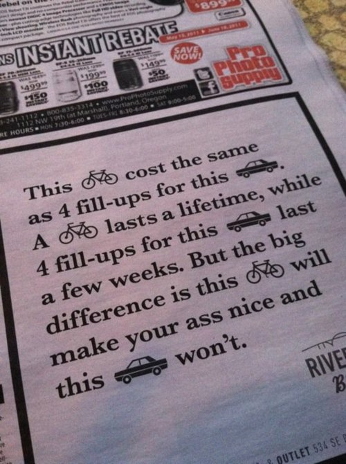 Bike Vs Car Cycling Quotes Motivation Bike
