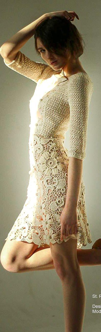 53+ Ideas de diseño de patrones de vestidos de ganchillo nuevos y modernos – Page 39 of 53