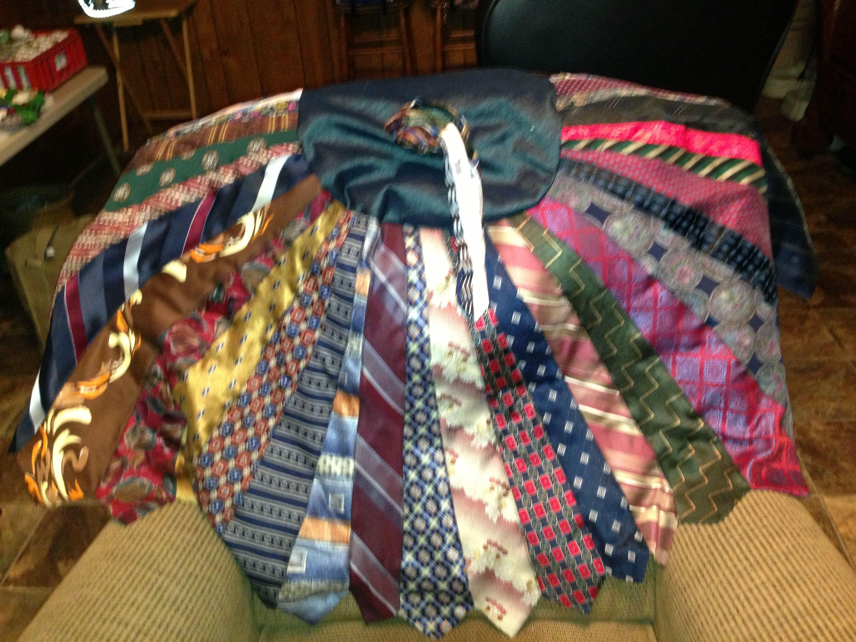 Christmas Tree Skirt made out of old ties. | Christmas ...