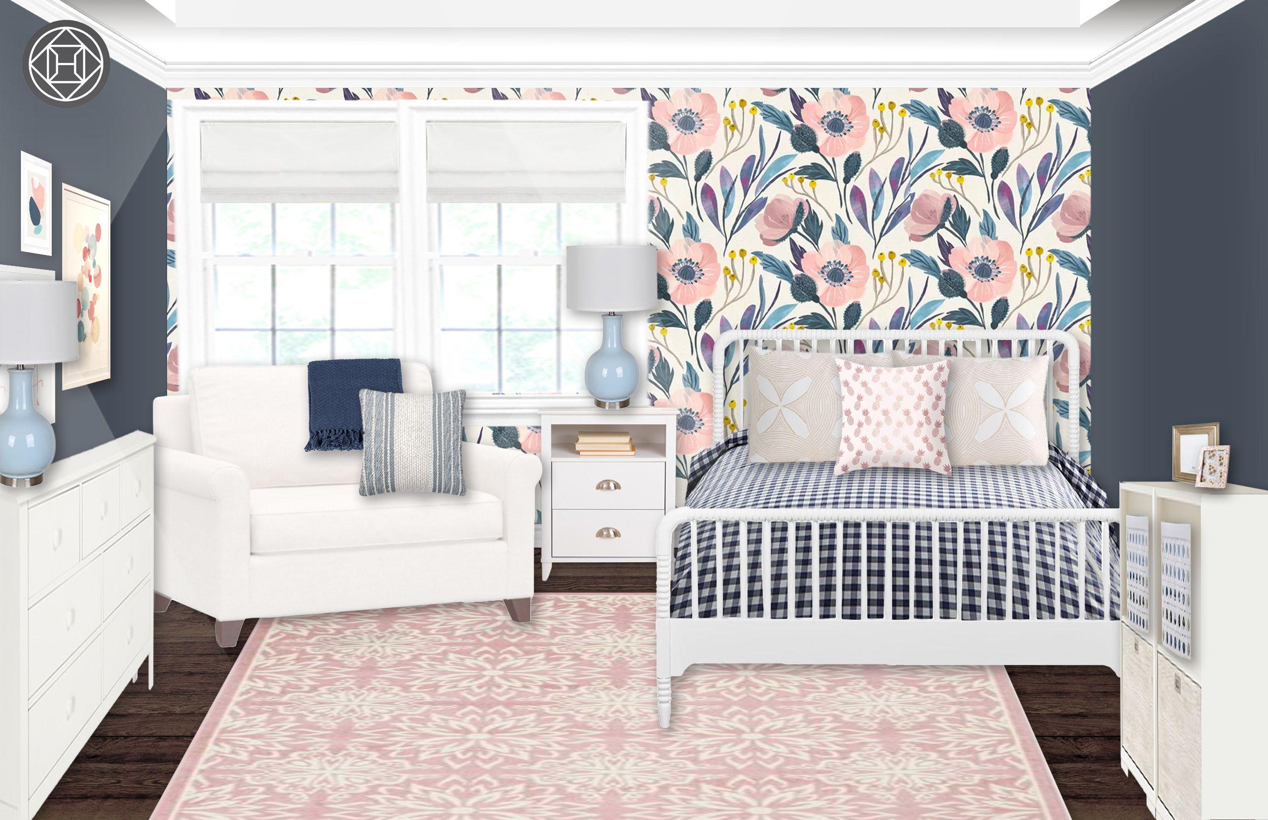 Eclectic Preppy Bedroom Design By Havenly Interior Designer Erin