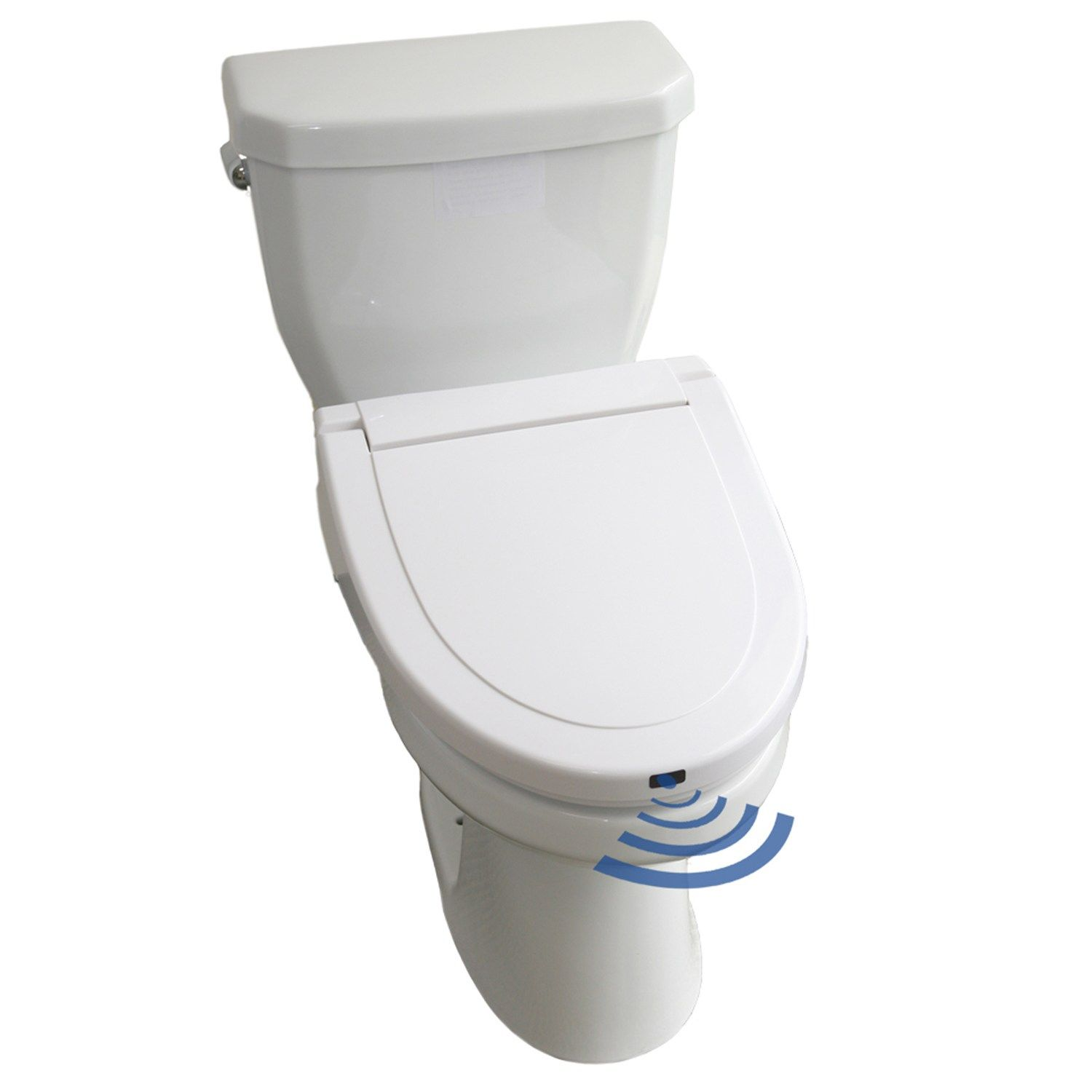 Itouchless Elongated Touch Free Sensor Controlled Automatic Toilet Seat Touch Free Itouchless Elongated Toilet Seat Toilet Amazing Bathrooms